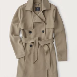 A&F Mid Length Double Breasted Trench Coat